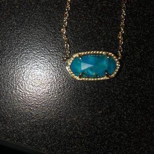 Blue gem Kendra Scott Necklace